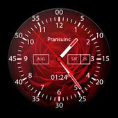Rose Analog Clock icon
