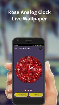 Rose Analog Clock screenshot 3