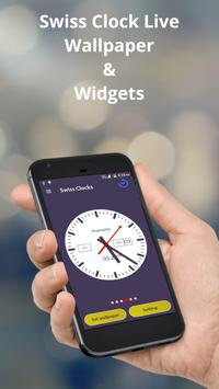 Swiss Clock Live wallpaper & widgets poster