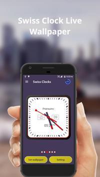 Swiss Clock Live wallpaper & widgets apk screenshot