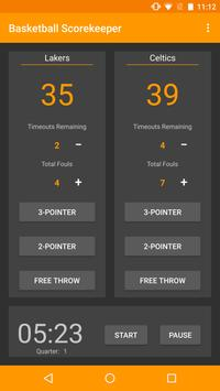 Basketball Timekeeper apk screenshot
