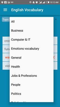 تعلم المفردات الانجليزية بطريقة بسيطة screenshot 1
