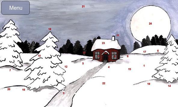 Hand Drawn Advent Calendar poster