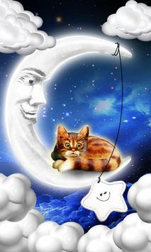 Cat on Moon poster