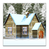House In Snow Live Wallpaper icon