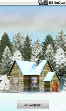 House In Snow Live Wallpaper poster