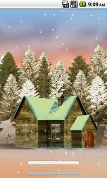 House In Snow Live Wallpaper screenshot 1
