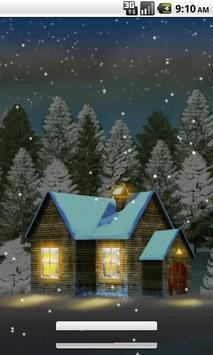 House In Snow Live Wallpaper screenshot 2