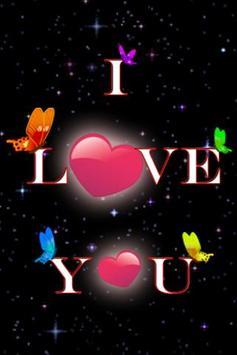I Love You Live Wallpaper Poster Apk Screenshot