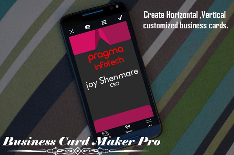 Business card maker pro apk download free business app for business card maker pro poster reheart Images