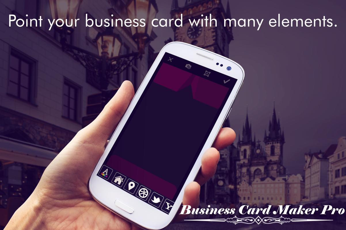 Business card maker pro apk download free business app for business card maker pro apk screenshot reheart Images