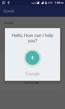 Speek Text & Voice apk screenshot