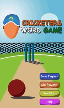 Cricketers Word Game poster