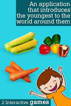 Montessori vegetables poster