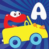 Alphabet car game for kids icon