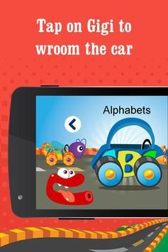 Alphabet car game for kids poster