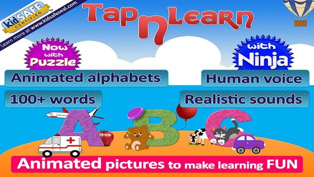 Animated alphabet for kids,ABC poster