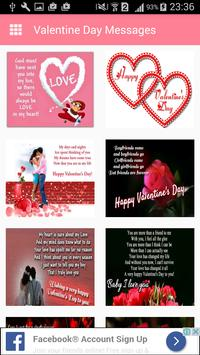 Valentine day Messages,Images poster
