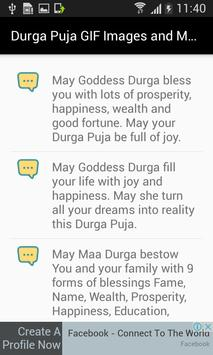 Durga Puja GIF Images and Messages screenshot 2