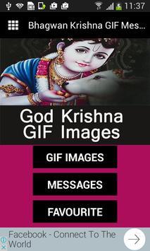 Bhagwan Krishna GIF Messages poster