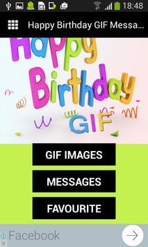 Happy Birthday GIF Messages apk screenshot