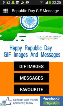 Republic Day GIF Messages Wish poster