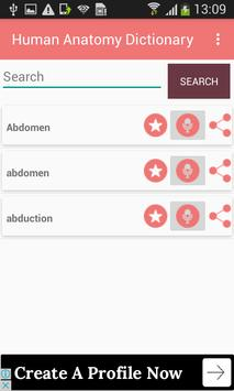 Human Anatomy Dictionary Definitions Terms Offline APK Download ...