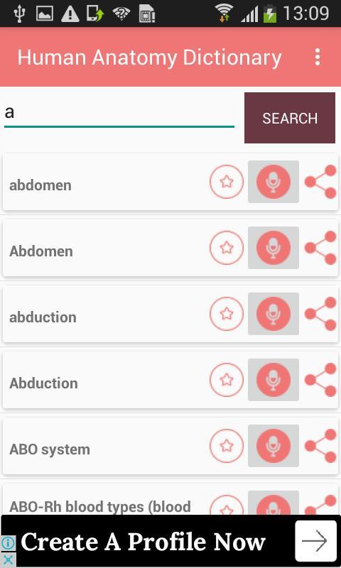 Human Anatomy Dictionary Definitions Terms Offline APK تحميل - مجاني ...