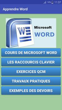 Apprendre Word poster
