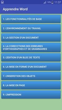 Apprendre Word apk screenshot