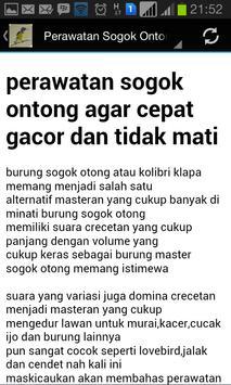 Master Kicau Sogok Ontong screenshot 4