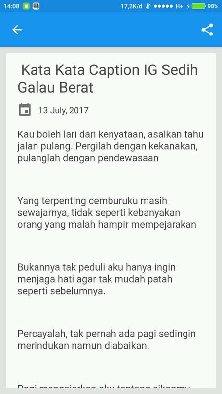 Caption Ig Galau For Android Apk Download