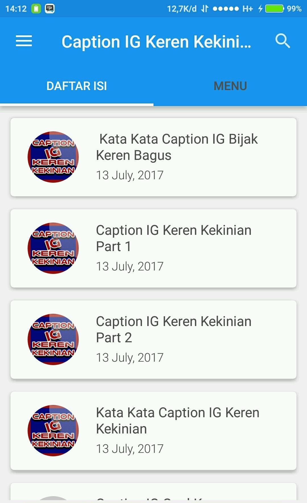 Caption Ig Keren Kekinian Hits For Android Apk Download