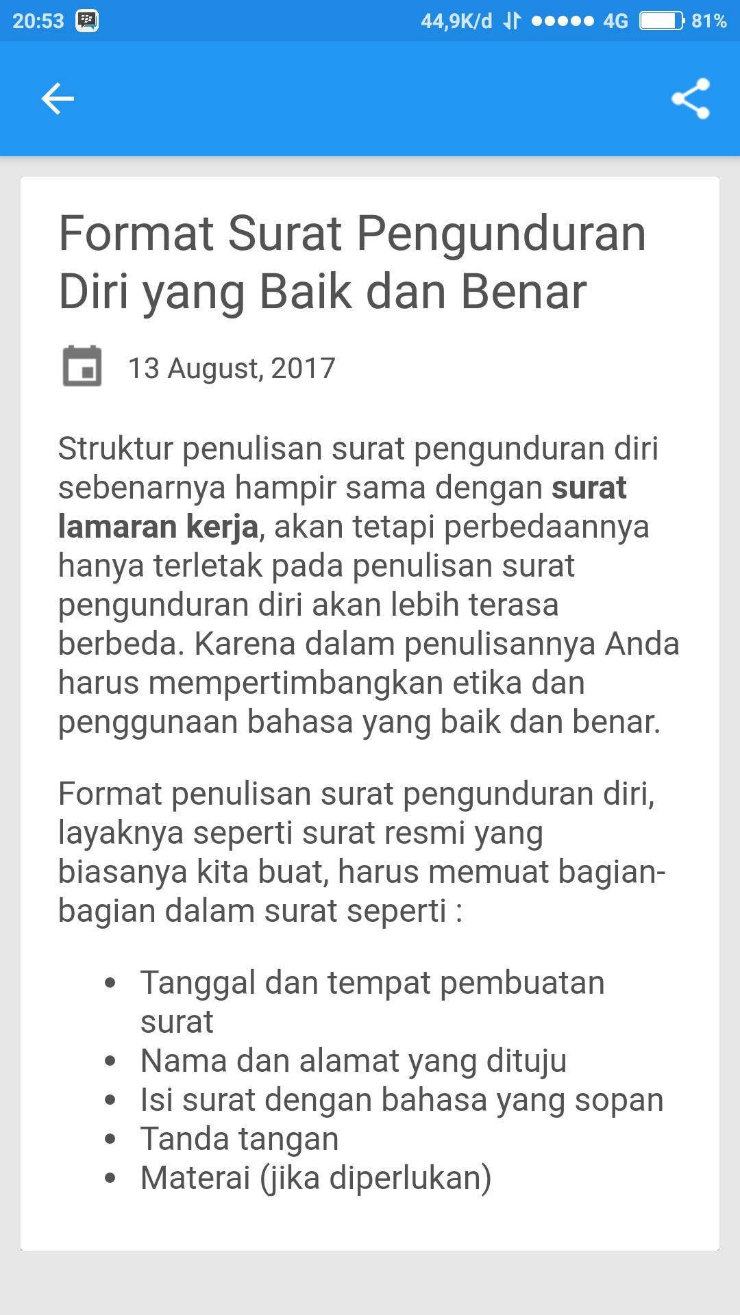 Contoh Surat Pengunduran Diriresign For Android Apk Download