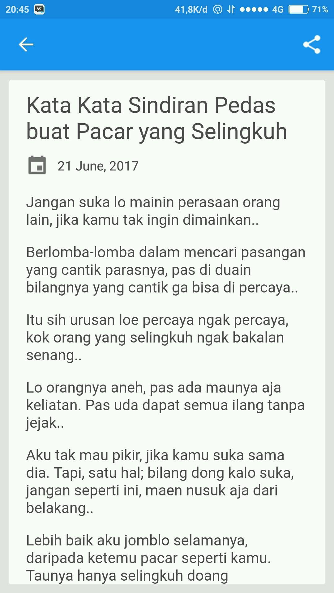 Kata Sindiran Sadis Pedas For Android Apk Download
