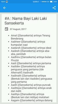 Nama Bayi Laki Laki Sansekerta screenshot 1