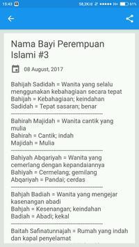 Nama Bayi Perempuan Islami screenshot 3