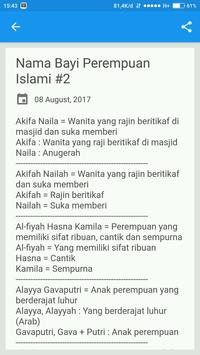 Nama Bayi Perempuan Islami screenshot 2
