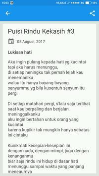 Puisi Rindu Kekasih screenshot 3