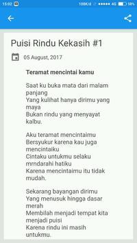 Puisi Rindu Kekasih screenshot 1