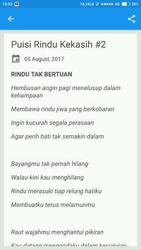 Puisi Rindu Kekasih screenshot 2