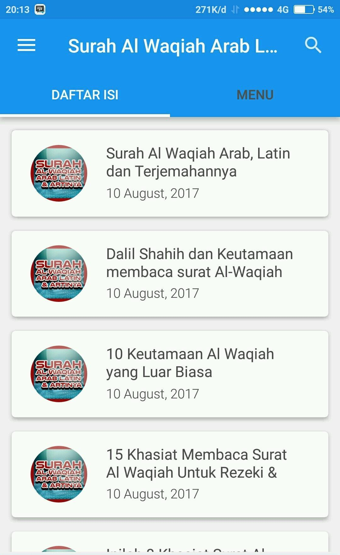 Surah Al Waqiah Arab Latin Artinya For Android Apk Download