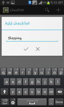MyChecklist screenshot 1