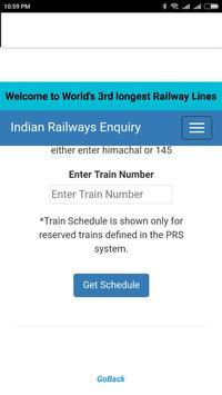 Indian railway enquiry screenshot 1