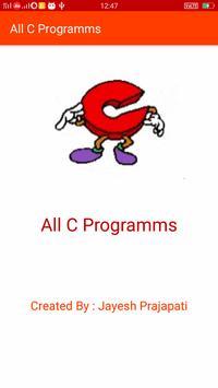 All C Programs poster