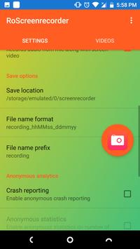 uvScreenRecorder apk screenshot