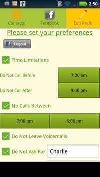 Call Preferences screenshot 2