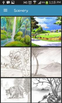 Drawing Scenery Landscapes poster