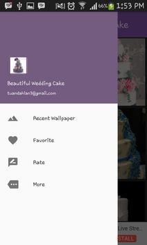 Beautiful wedding cake poster