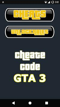 Cheat Codes for GTA 3 poster